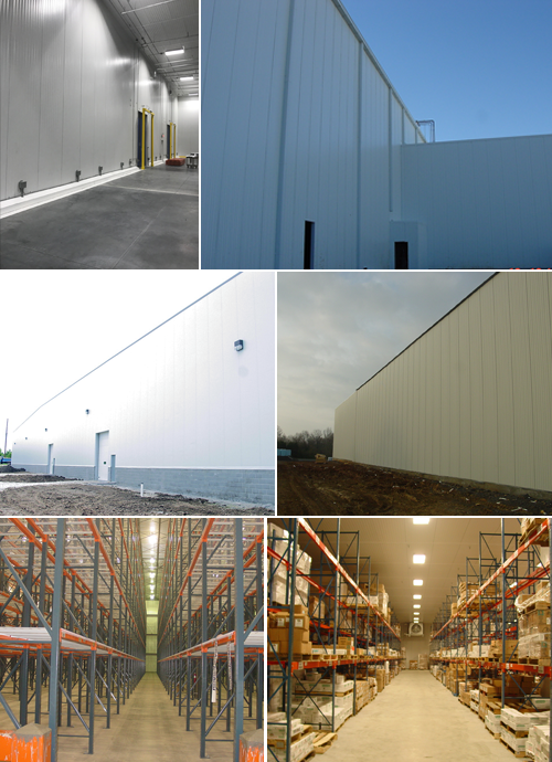 Inside and Outside Views of Warehouses